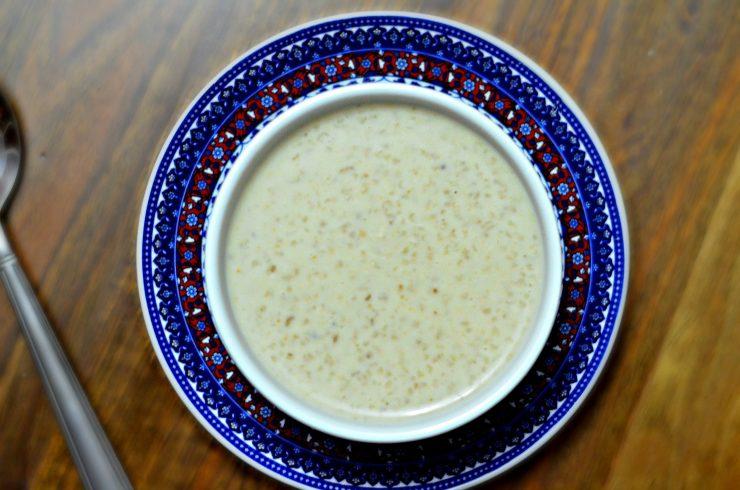 bowl of moroccan barley soup