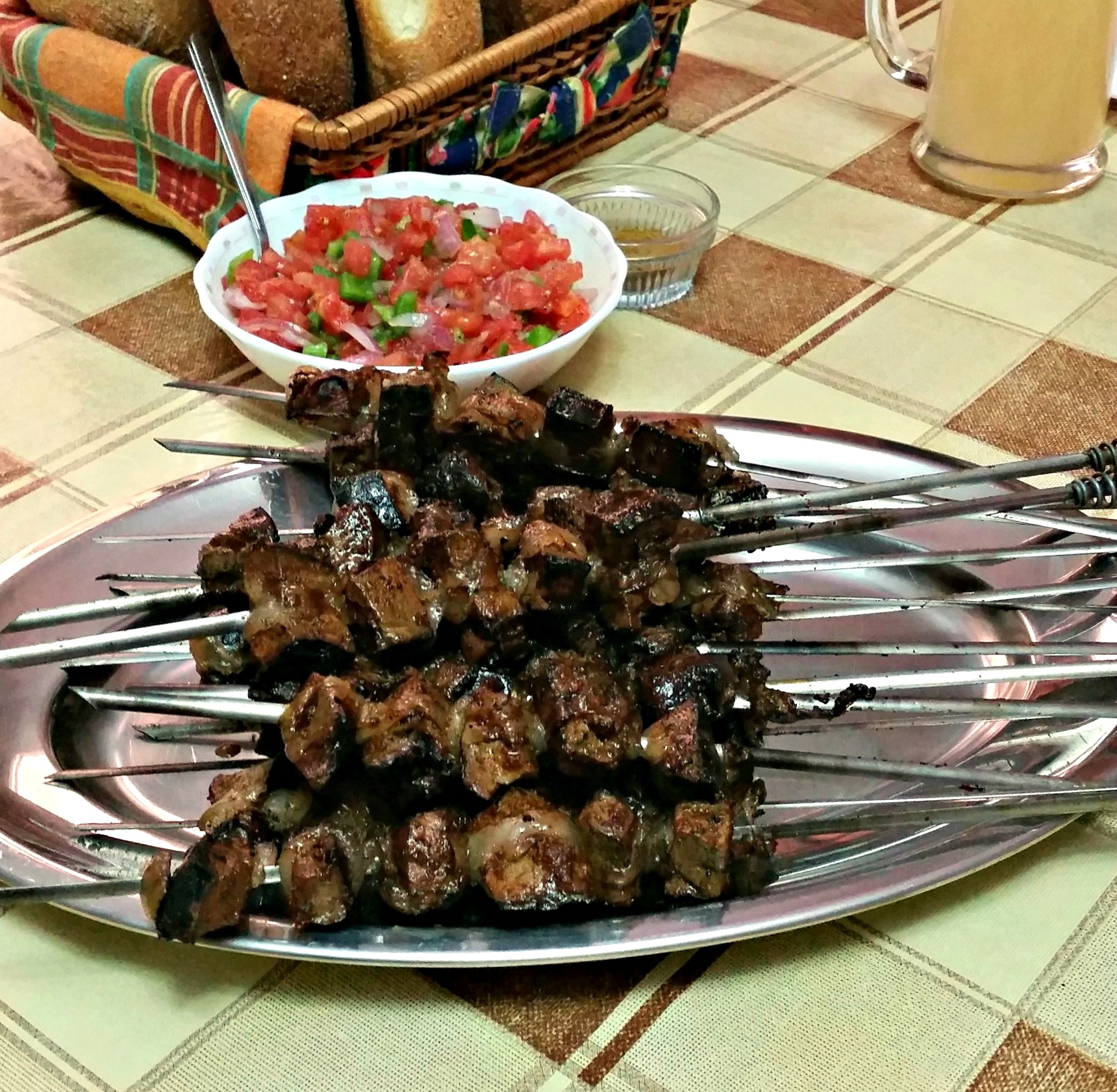 Moroccan Liver Brochettes with Caul Fat – Boulfaf