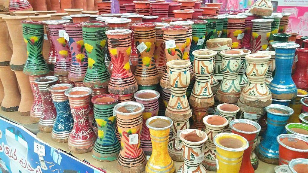 Small ceramic Moroccan drums