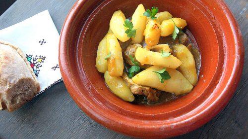 M'qualli with lamb and jerusalem artichokes.