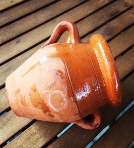 Tangia, a terracota amphora used to cook the dish holding the same name