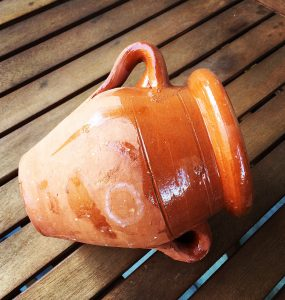 Tangia, a terracota amphora used to cook the dish holding the same name