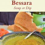 Pinterest image for split pea bessara
