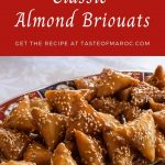 almond briouat pastries on a plate
