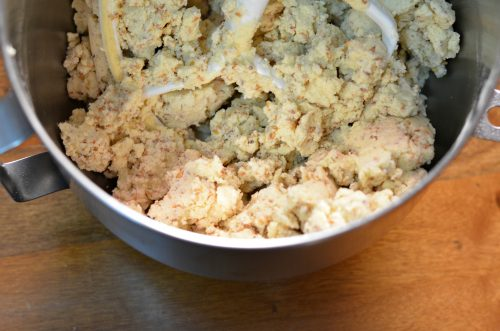 Close up photo of Moroccan shortbread cookie dough.