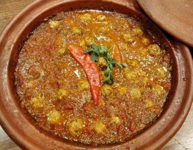 Moroccan fish balls in tomato sauce.