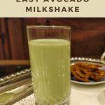 Pinterest image of avocado milkshake.